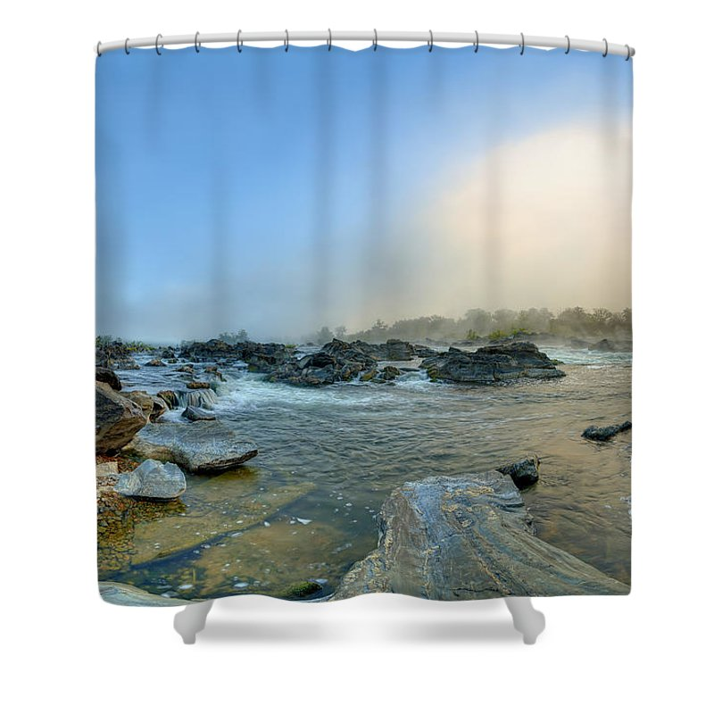 Great Shower Curtain featuring the photograph Mists Of Great Falls by Metro DC Photography
