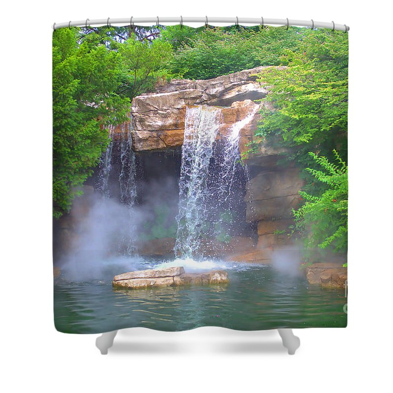 Misty Falls Shower Curtain featuring the photograph Misty Falls by Luther Fine Art