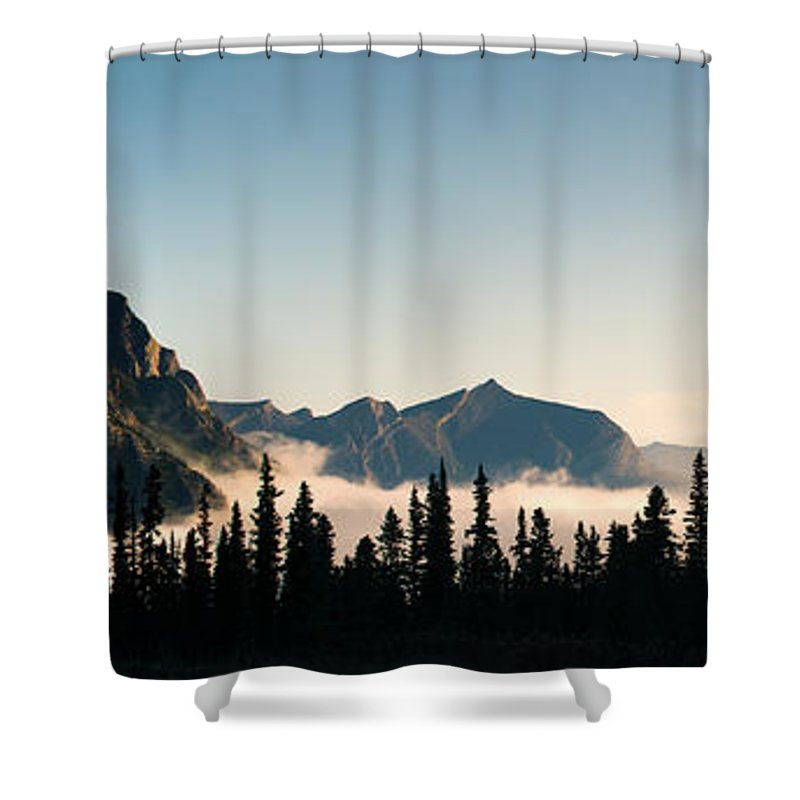 Alberta Shower Curtain featuring the photograph Misty Morning by Brandon Smith