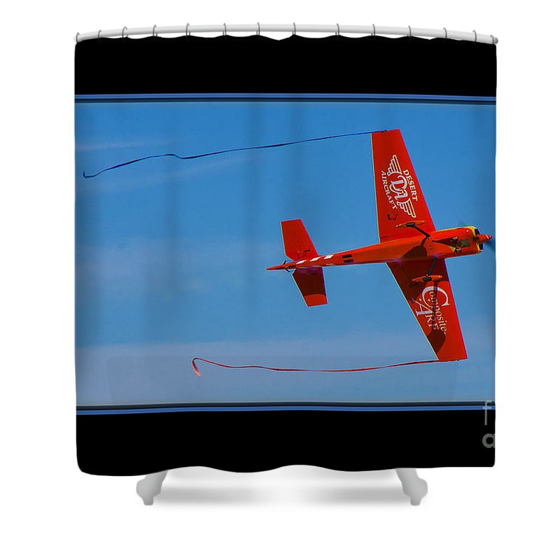 Plane Shower Curtain featuring the photograph Model Plane 6 by Larry White