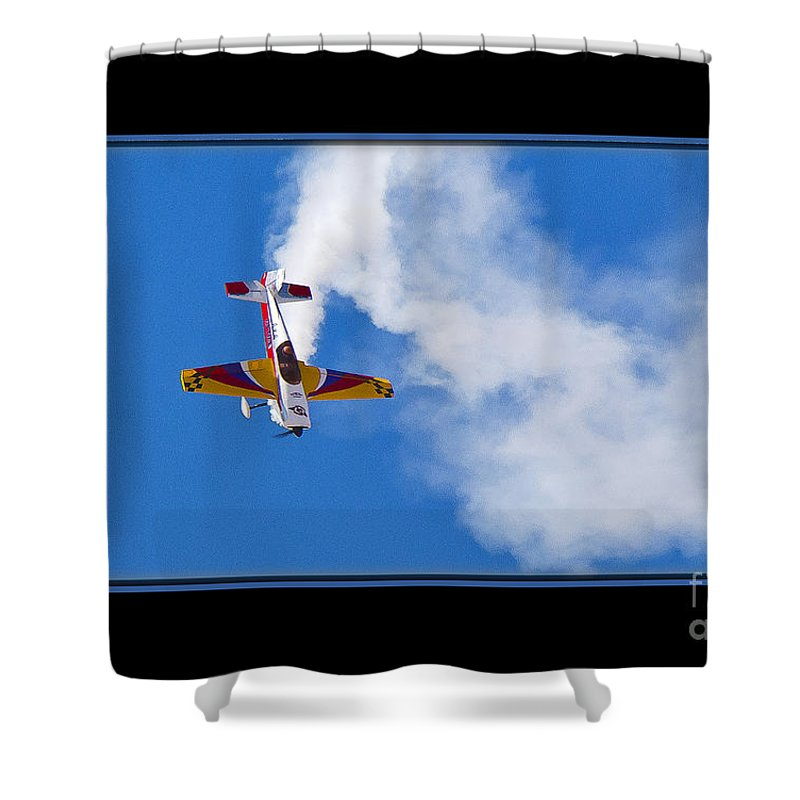 Plane Shower Curtain featuring the photograph Model Plane by Larry White