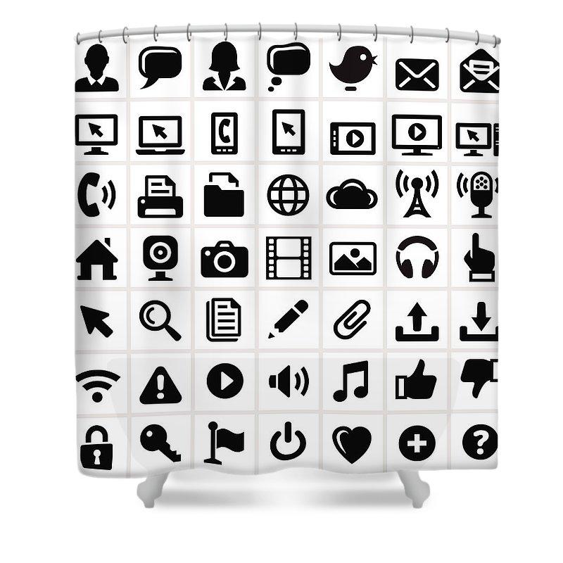 Internet Shower Curtain featuring the digital art Modern Technology Internet Social by Bubaone