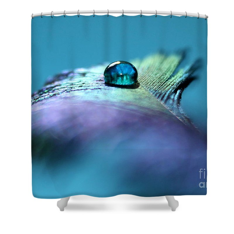 Peacock Feather Shower Curtain featuring the photograph Moment Of Peace by Krissy Katsimbras