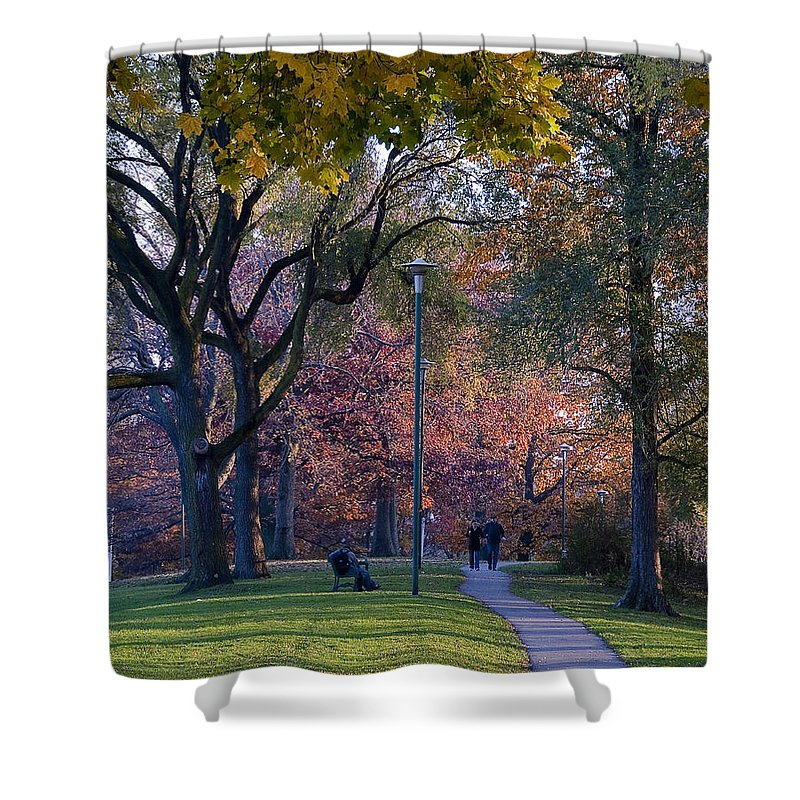 Autumn Shower Curtain featuring the photograph Monarch Park - 133 by Rick Shea
