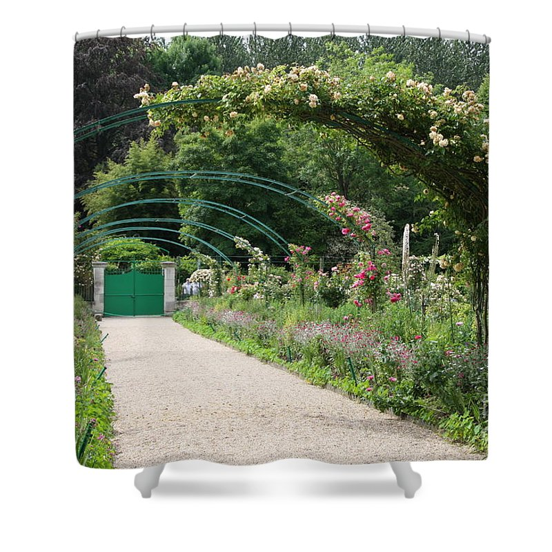 Monet Shower Curtain featuring the photograph Monets Garden - Giverney - France by Christiane Schulze Art And Photography