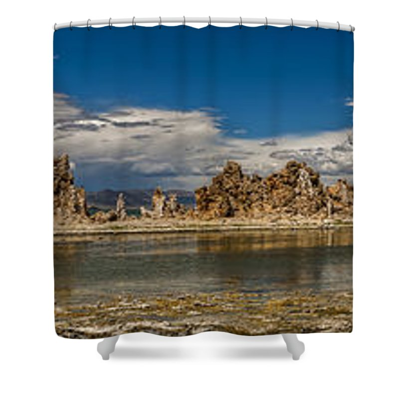 California Shower Curtain featuring the photograph Mono Lake Pano by Cat Connor