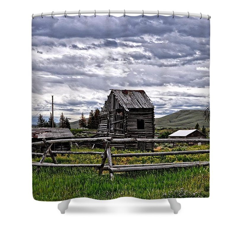 Cabin Shower Curtain featuring the photograph Montana by Image Takers Photography LLC