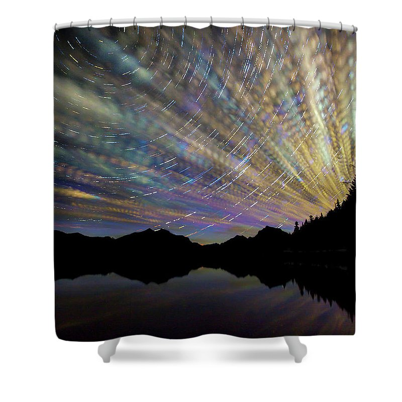 Scenics Shower Curtain featuring the photograph Montana Skies by Aaron Aldrich Fine Art