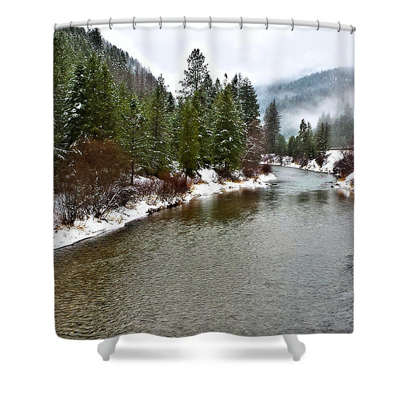Montana Shower Curtain featuring the photograph Montana Winter by Susan Kinney