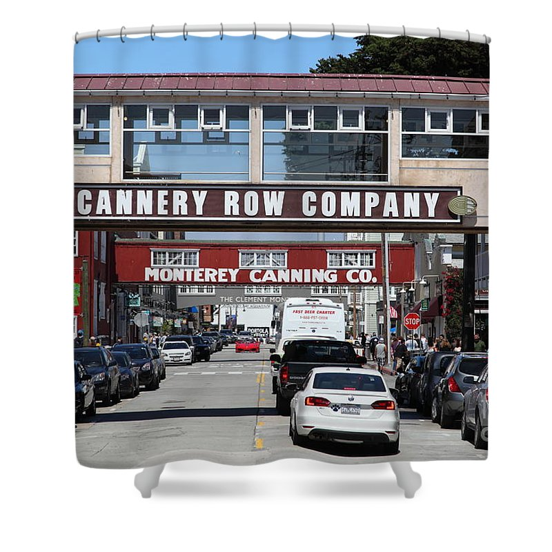 Monterey Shower Curtain featuring the photograph Monterey Cannery Row California 5d25034 by Wingsdomain Art and Photography
