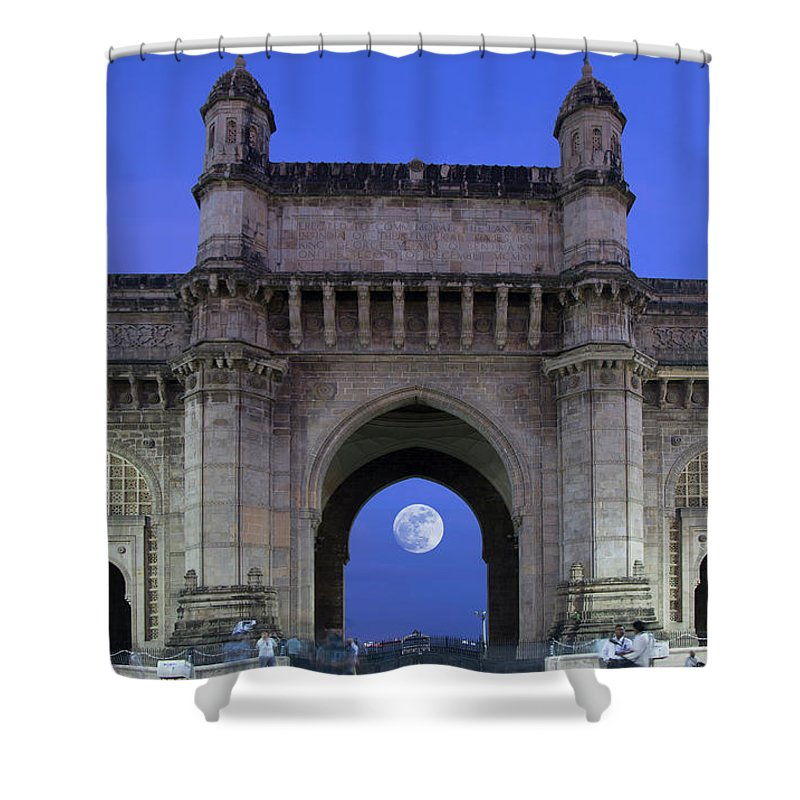 Arch Shower Curtain featuring the photograph Monument Entrance by Grant Faint