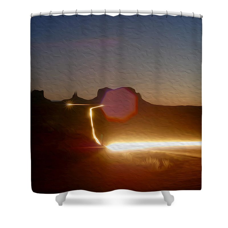 Monument Valley Shower Curtain featuring the photograph Monument Valley 3 by Tracy Winter
