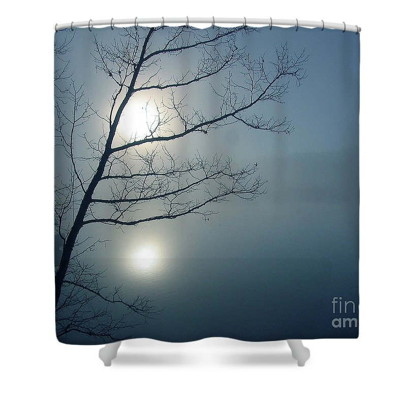 Tree Shower Curtain featuring the photograph Moody Blue by Douglas Stucky