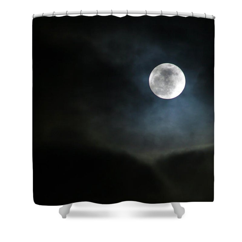 Moonlight Shower Curtain featuring the photograph Moon 2 by Allan Lovell
