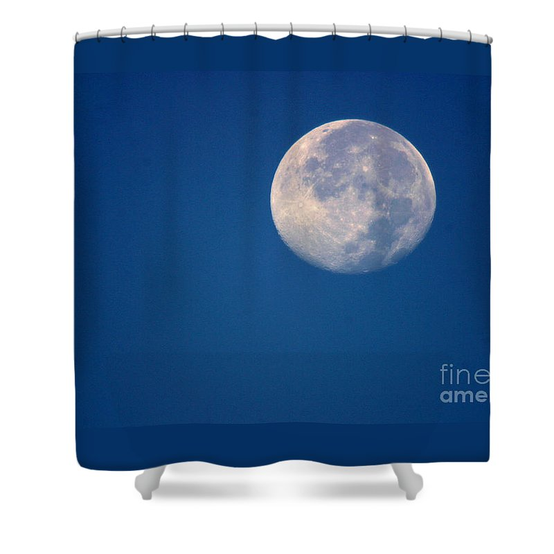 Moon Shower Curtain featuring the photograph Moon1928 by Gary Gingrich Galleries