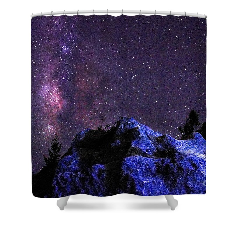 Milky Way Shower Curtain featuring the photograph Moonrocks by Amanda Lackides