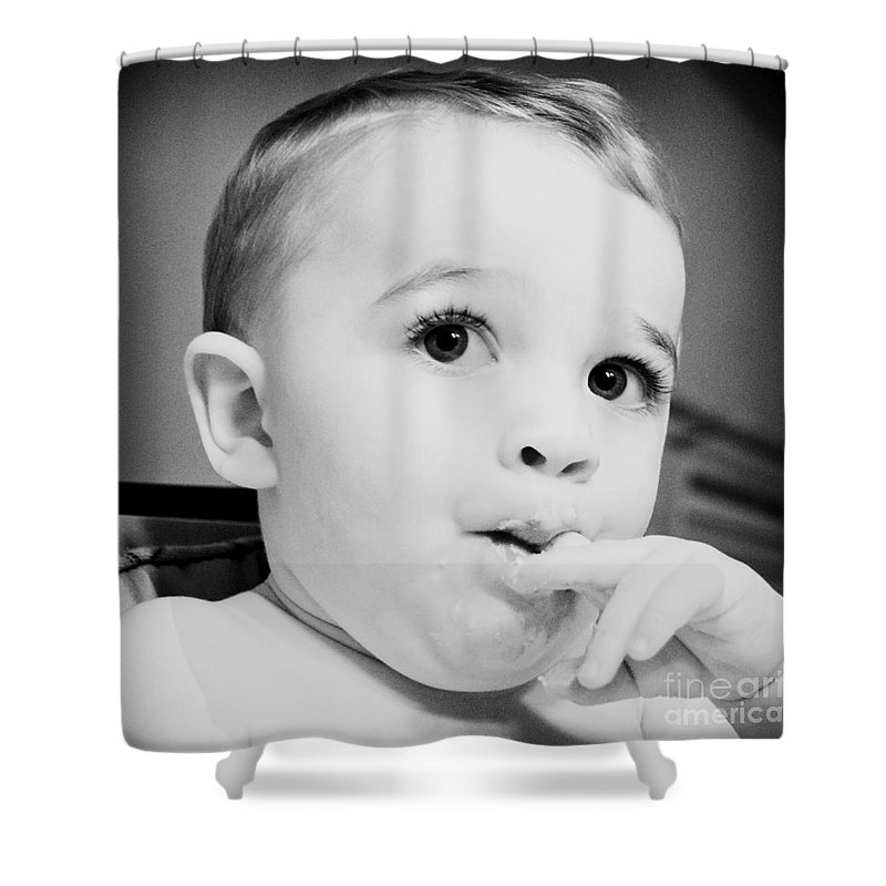 Baby Shower Curtain featuring the photograph More Cake Please by Joe Geraci