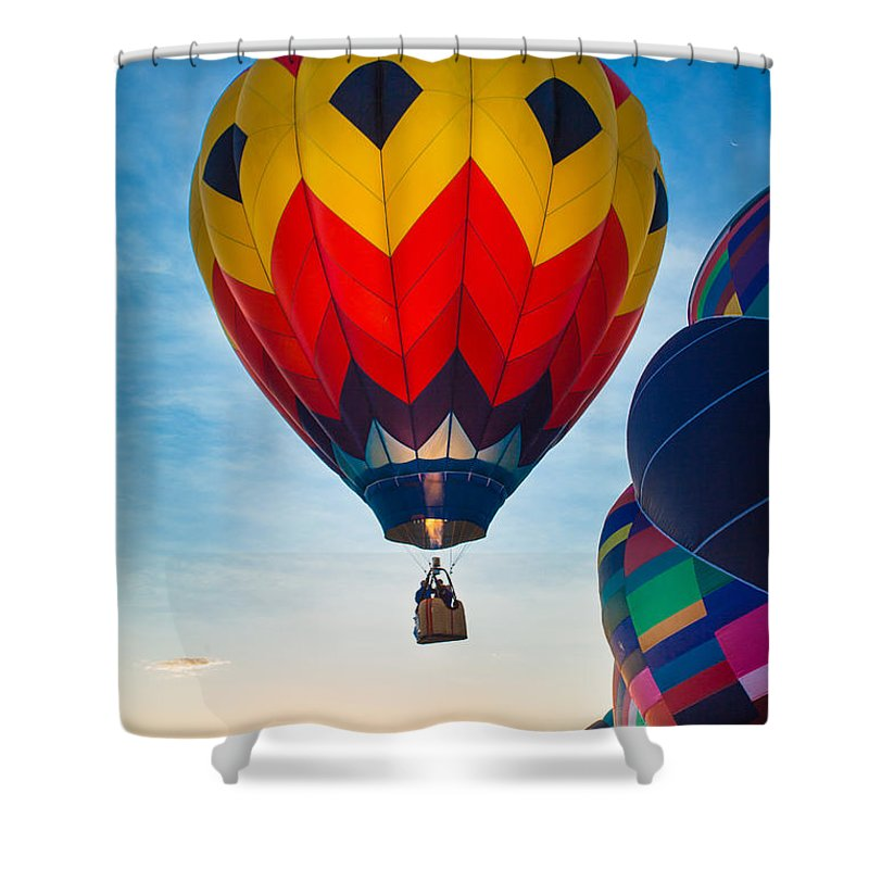 America Shower Curtain featuring the photograph Morning Flight by Inge Johnsson