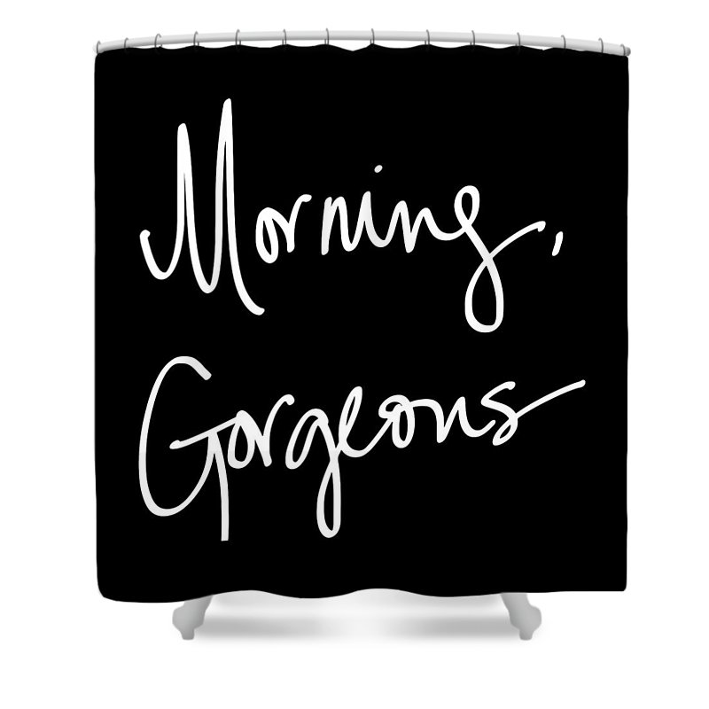 Morning Shower Curtain featuring the digital art Morning Gorgeous by South Social Studio