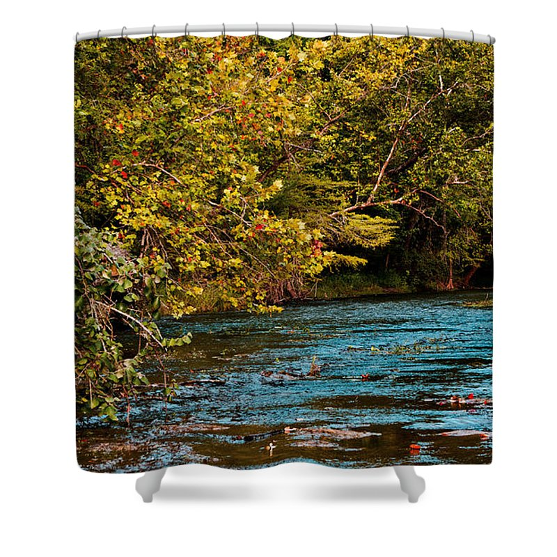 Morning Shower Curtain featuring the photograph Morning River by Gary Richards