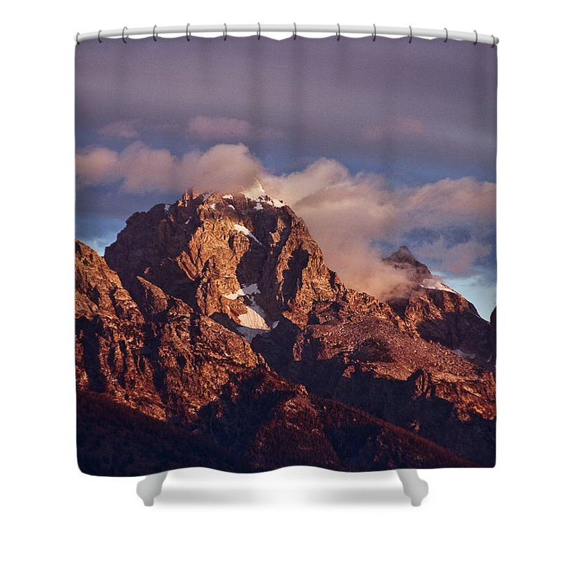 Morning's First Rays Shower Curtain featuring the photograph Morning's First Rays by Wes and Dotty Weber
