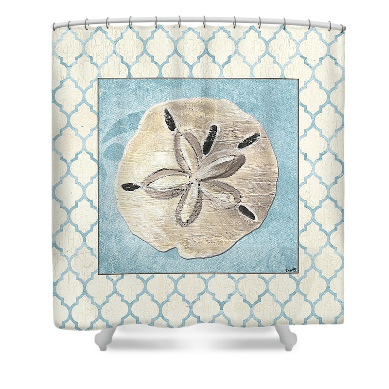Shell Shower Curtain featuring the painting Moroccan Spa 2 by Debbie DeWitt