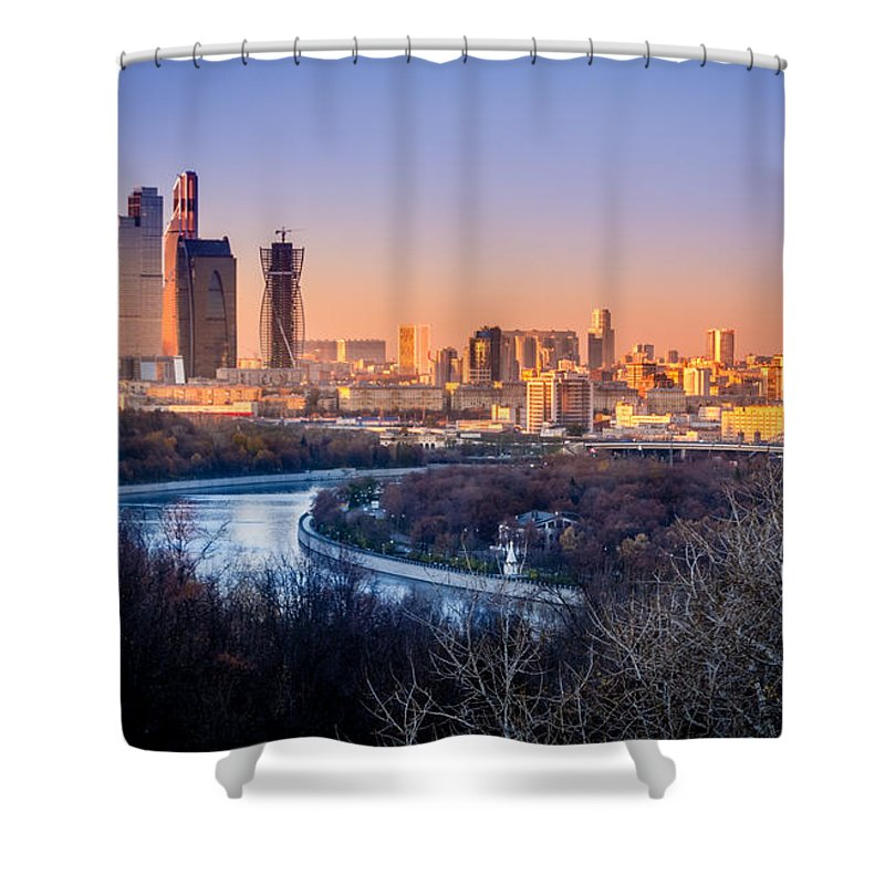 Moscow Shower Curtain featuring the photograph Moscow City by Alexey Stiop