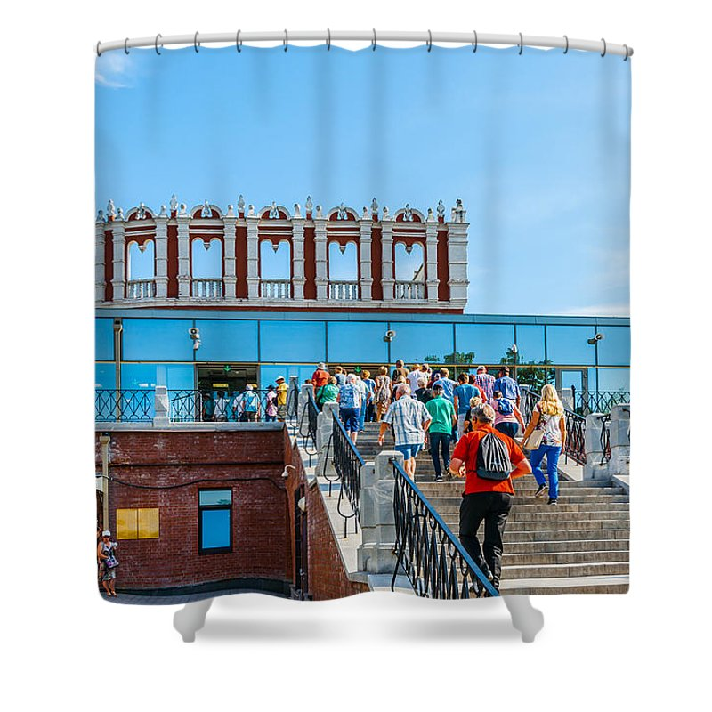 Moscow Shower Curtain featuring the photograph Moscow Kremlin Tour - 02 Of 70 by Alexander Senin