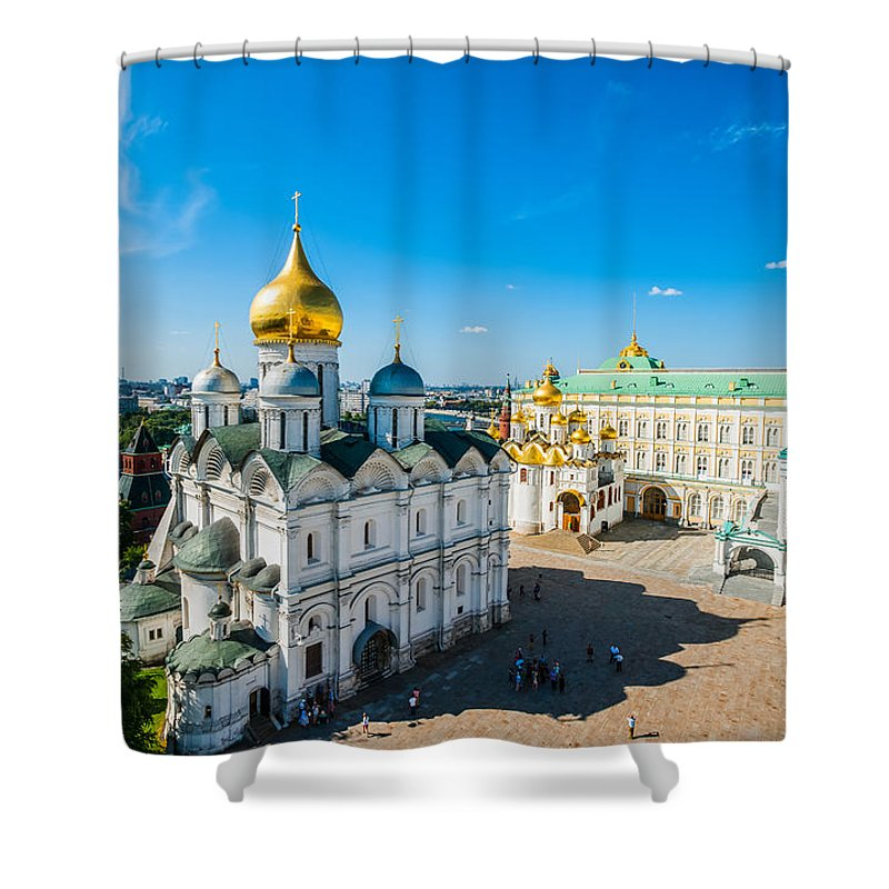Moscow Shower Curtain featuring the photograph Moscow Kremlin Tour - 34 Of 70 by Alexander Senin