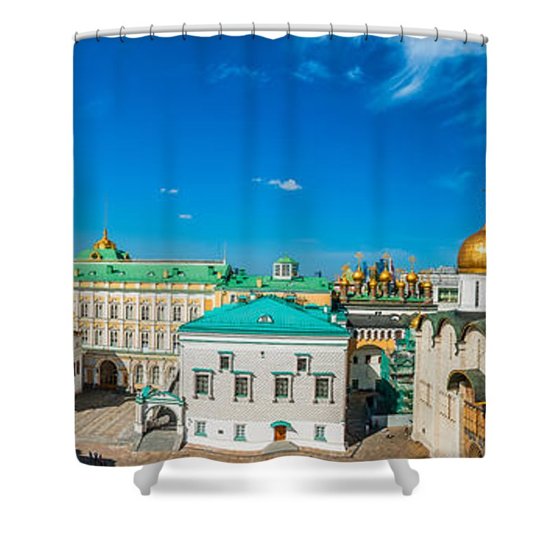 Moscow Shower Curtain featuring the photograph Moscow Kremlin Tour - 36 Of 70 by Alexander Senin
