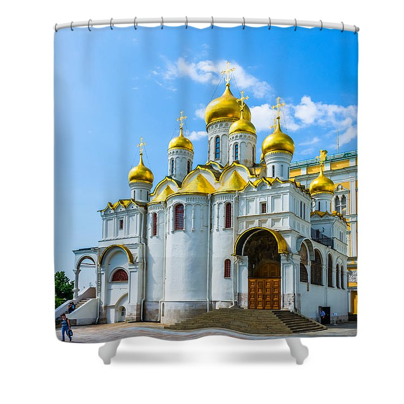 Moscow Shower Curtain featuring the photograph Moscow Kremlin Tour - 45 Of 70 by Alexander Senin