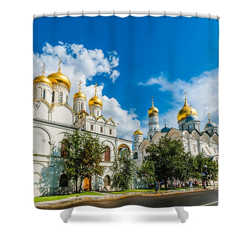 Moscow Shower Curtain featuring the photograph Moscow Kremlin Tour - 57 Of 70 by Alexander Senin
