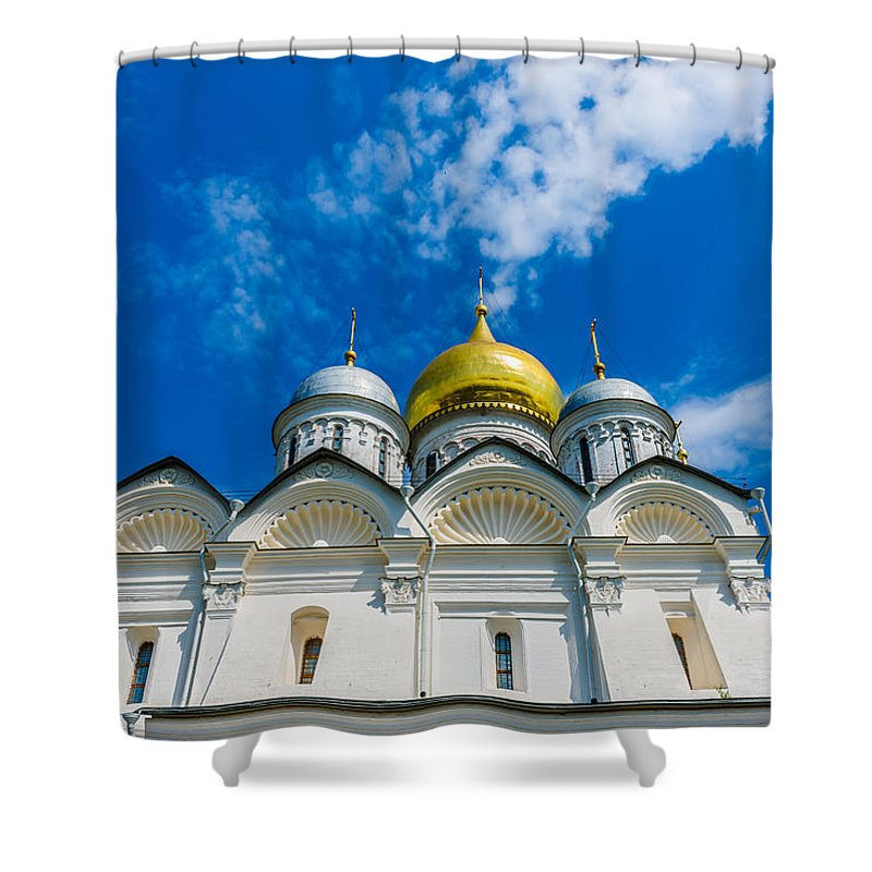 Moscow Shower Curtain featuring the photograph Moscow Kremlin Tour - 58 Of 70 by Alexander Senin