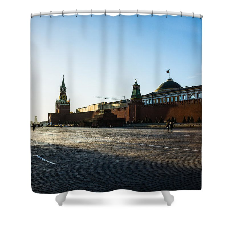 Architecture Shower Curtain featuring the photograph Moscow Red Square From North-west To South-east by Alexander Senin