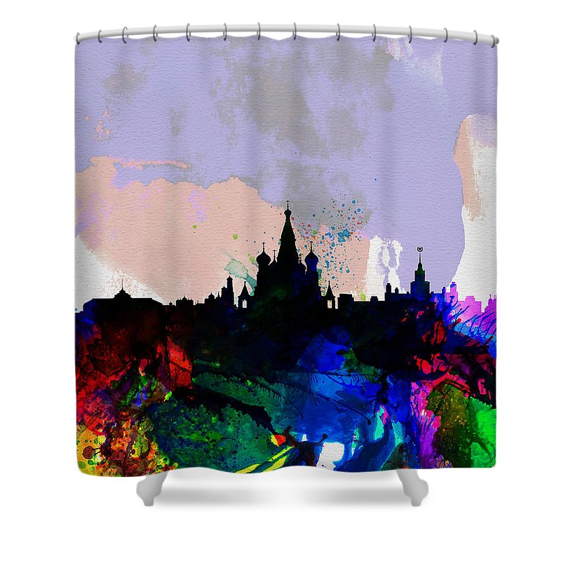 Moscow Skyline Shower Curtains