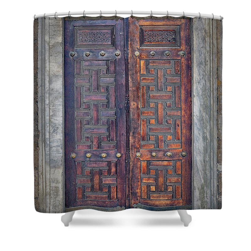 Door Shower Curtain featuring the photograph Mosque Doors 17 by Antony McAulay