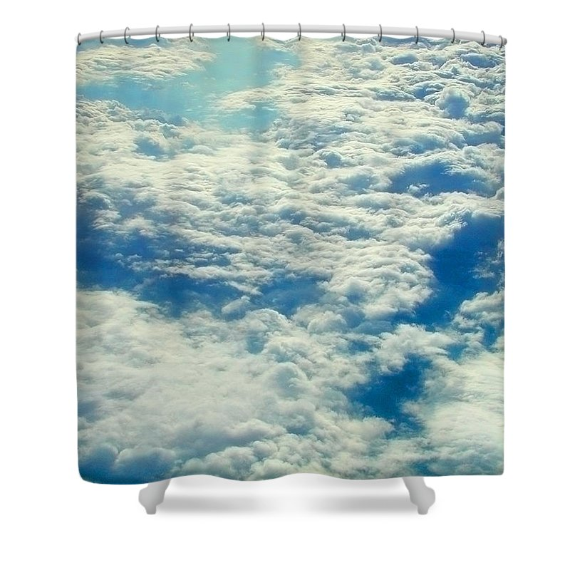 Aerial Shower Curtain featuring the photograph Mostly Cloudy by Mark Greenberg