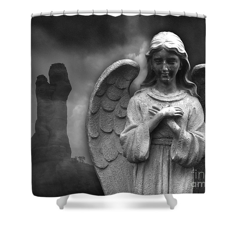 Mary Shower Curtain featuring the photograph Mother And Child by Stacey May