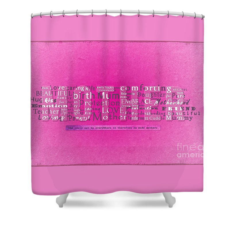 Mother Shower Curtain featuring the photograph Mother by Gillian Singleton