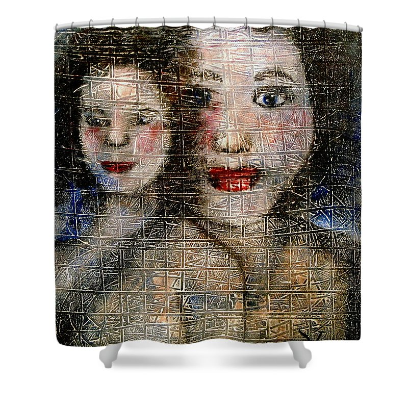 Mother Shower Curtain featuring the painting Motherly Love by Natalie Holland