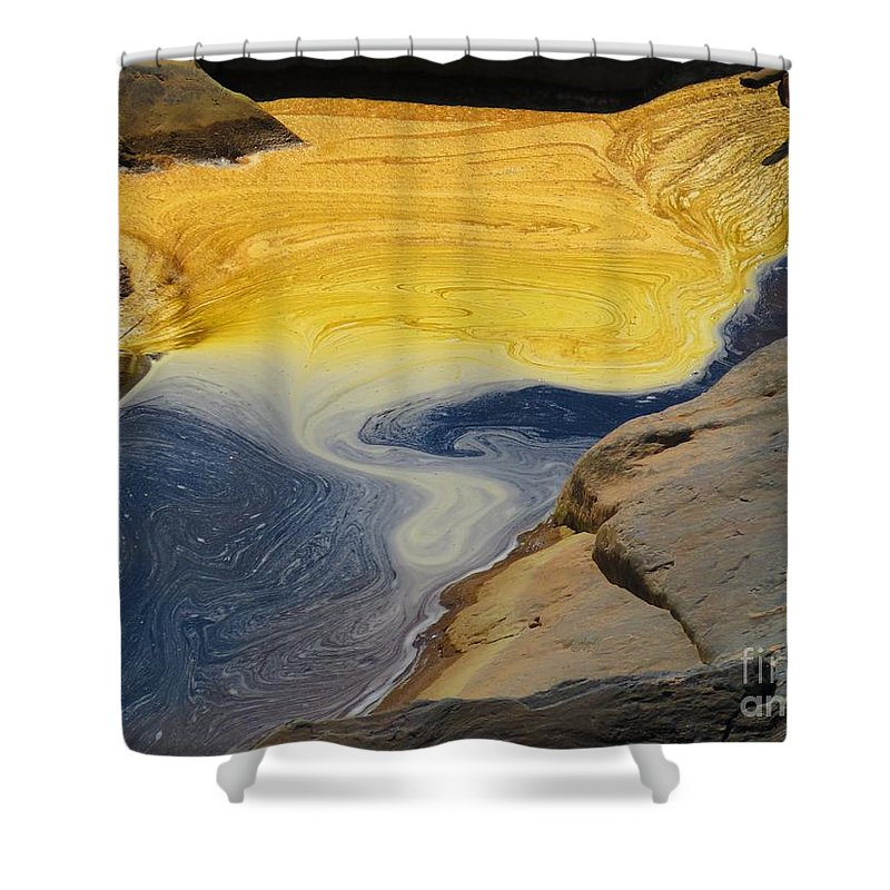 Water Shower Curtain featuring the photograph Mothers abstract 11 by Rrrose Pix