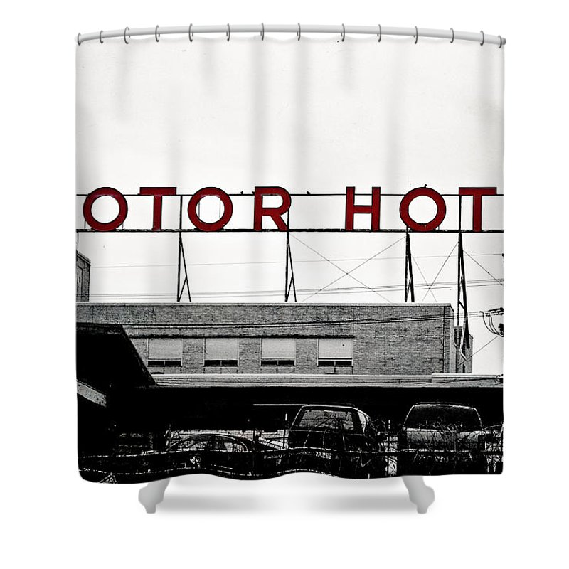 Hotel Shower Curtain featuring the photograph Motor Hotel by Scott Pellegrin