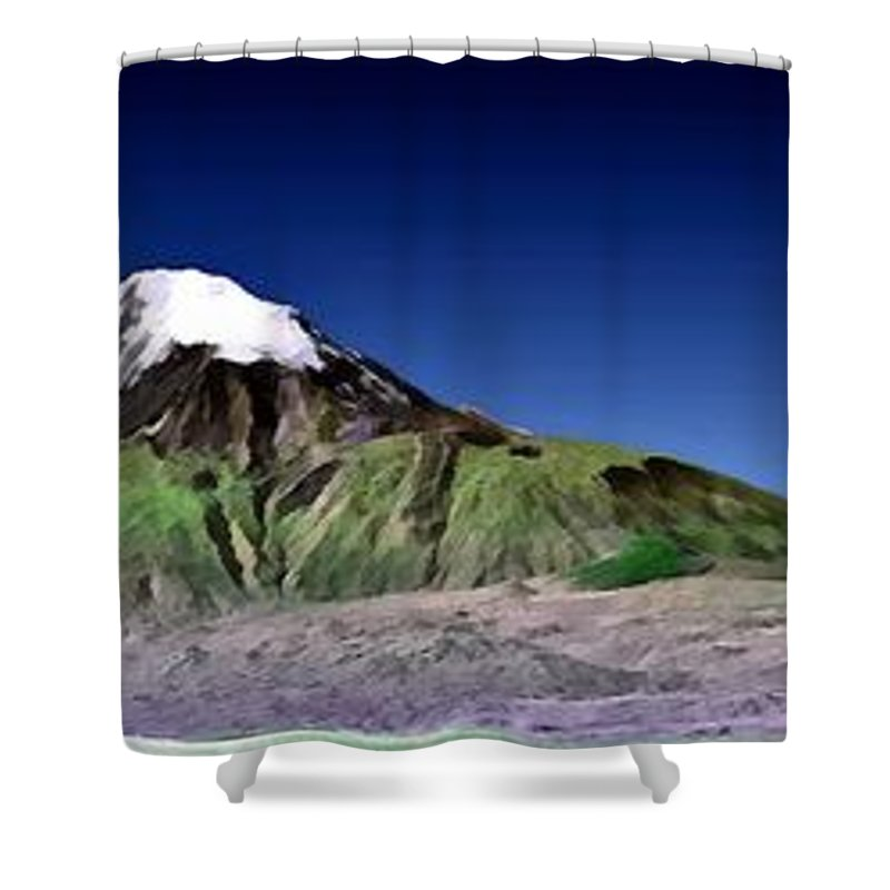 Nasa Jpl Nima Shower Curtain featuring the photograph Mount Ararat Turkey by Nasa Jpl Nima