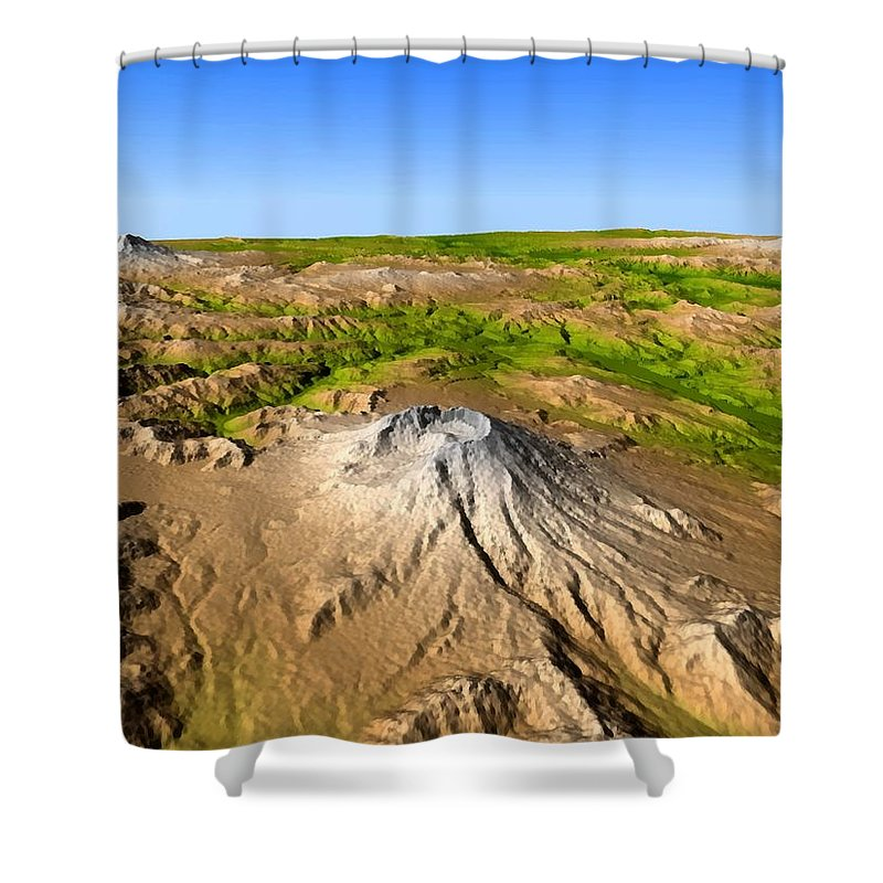 Mount Saint Helens Shower Curtain featuring the photograph Mount Saint Helens by Jpl