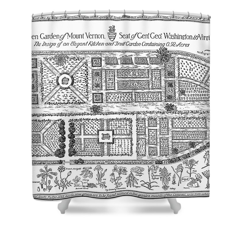 18th Century Shower Curtain featuring the photograph Mount Vernon: Garden by Granger