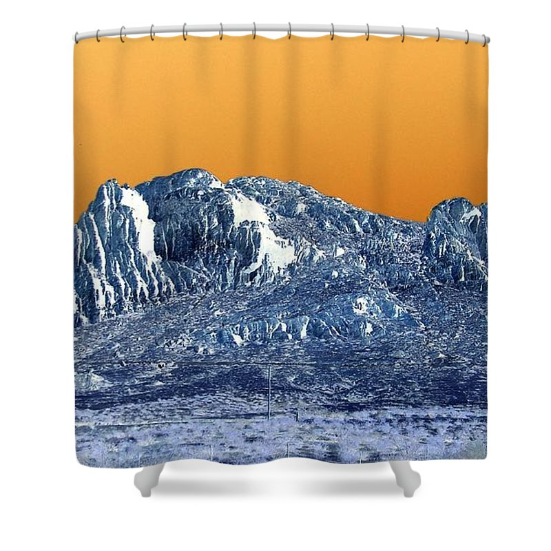Colorful Shower Curtain featuring the photograph Mountain Abstract by Eunice Miller
