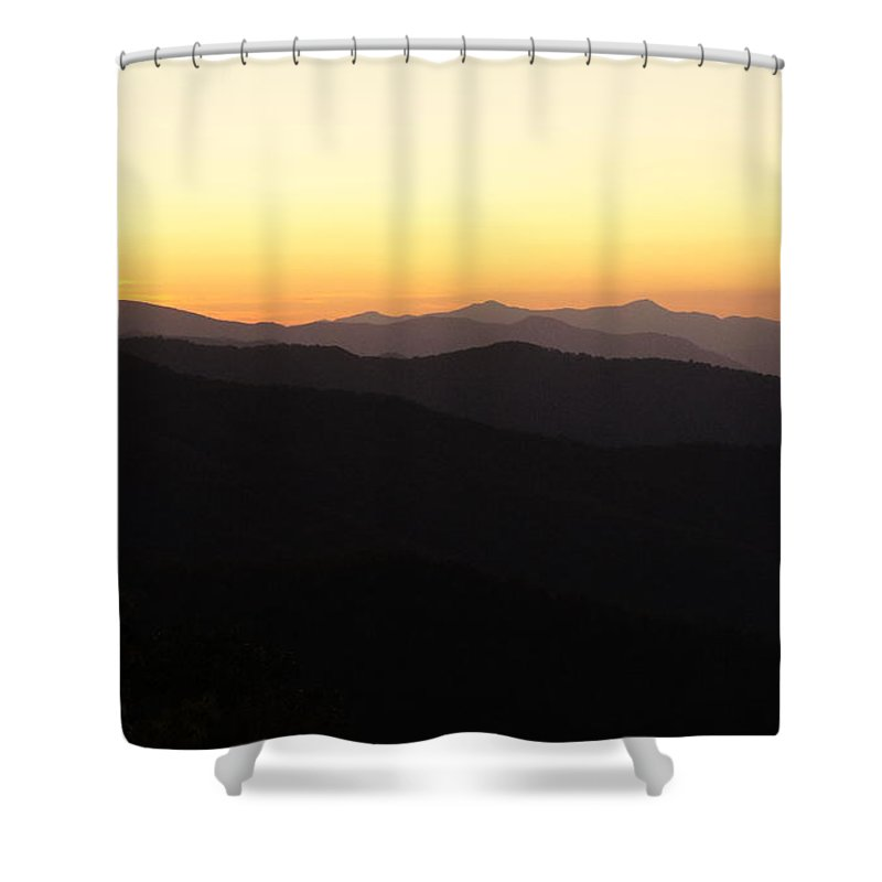 Faith Shower Curtain featuring the photograph Mountain Glow by Laurie Perry