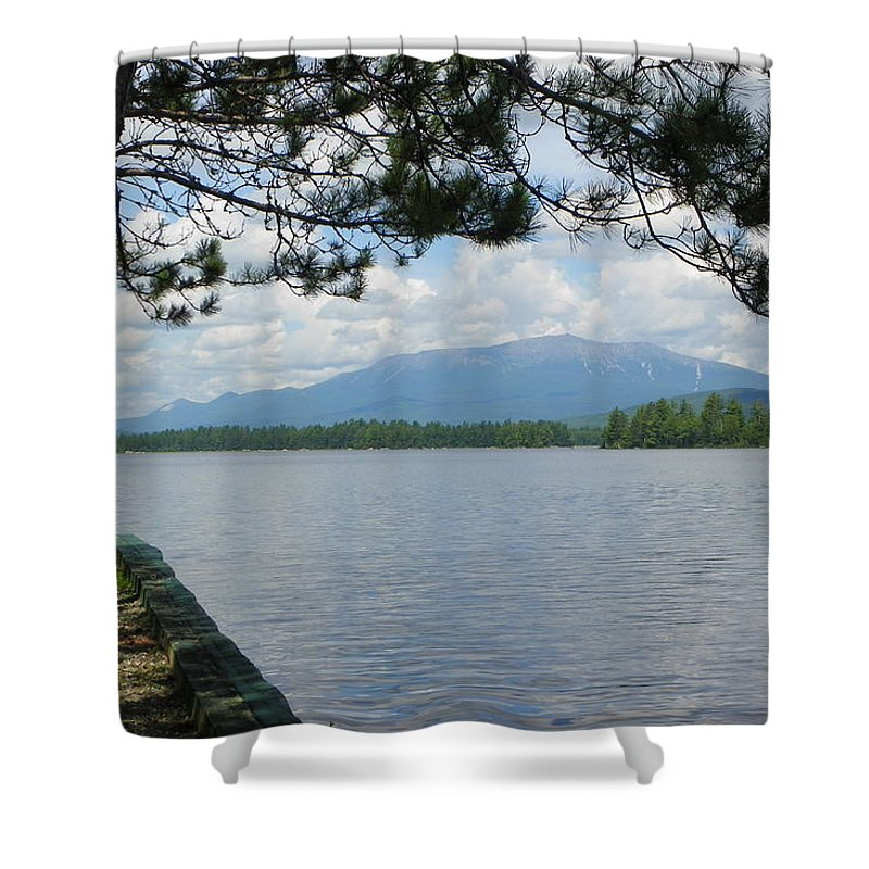 Mountain Shower Curtain featuring the photograph Mountain Of The People Of Maine by Georgia Hamlin