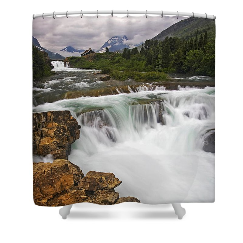 Glacier National Park Shower Curtain featuring the photograph Mountain Paradise by Mark Kiver