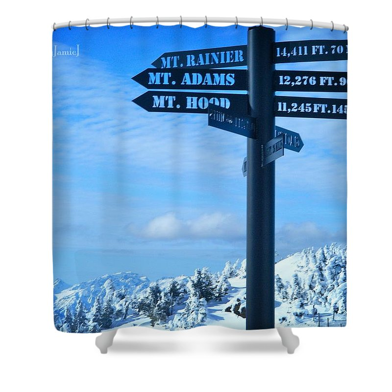 Mountain Shower Curtain featuring the photograph Mountains Everywhere by Jamie Johnson